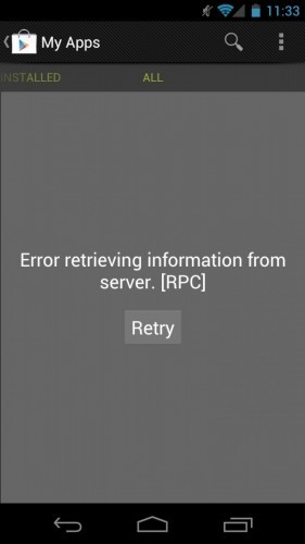 Un fallo en Google Play hace desaparecer las aplicaciones compradas de las cuentas de usuarios