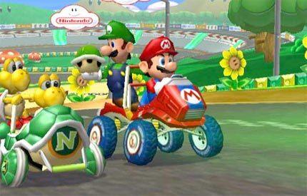 Dos corredores por coche en Mario Kart: Double Dash