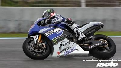 Jorge Lorenzo ha sido el más rápido en un primer día de test en Jerez pasado por agua