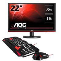 PcComponentes te regala un teclado y un ratón gaming con el monitor AOC G2260VWQ6 por sólo 135 euros