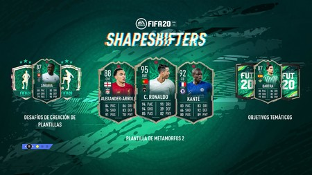 Guía FIFA 20. ShapeShifters 2: la plantilla de Metamorfos 2 al completo y cómo resolver los desafíos temáticos de FUT 20
