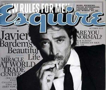 Javier Bardem en la portada de Esquire USA