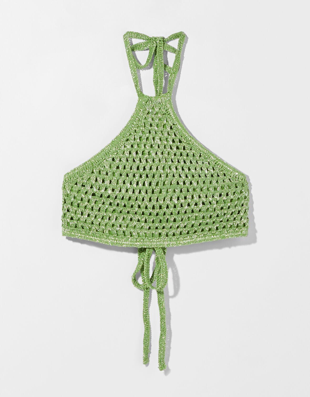 Cropped top de crochet.