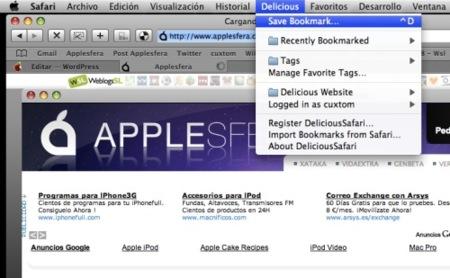 DeliciousSafari integra Delicious.com a Safari