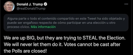 Donald J Trump En Twitter We Are Up Big But They Are Trying To Steal The Election We Will Never Let Them Do It Votes Cannot Be Cast After The Polls Are Closed Twitter