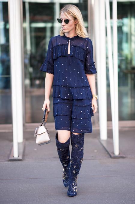 Como Combinar Un Vestido Azul Marino 8