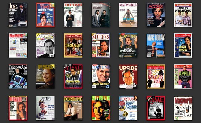 Steve Jobs en las portadas de revistas