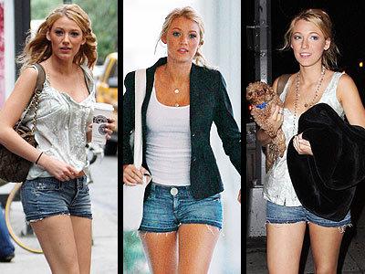 Las celebrities y sus obsesiones: Blake Lively y sus shorts tejanos