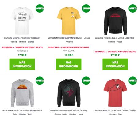 Sudaderas oficiales Nintendo, con camiseta de regalo, por 27,99 euros en Zavvi