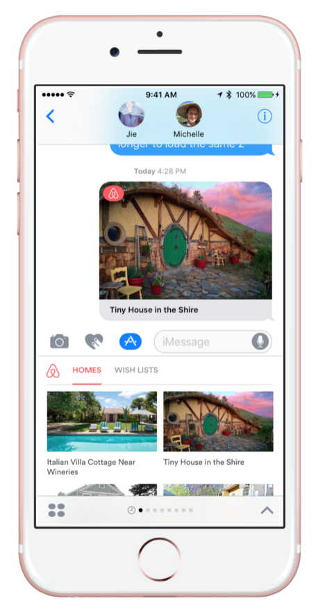 Airbnb Imessage