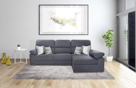 Sofá con chaiselongue de tres plazas por 399 euros y envío gratis en eBay