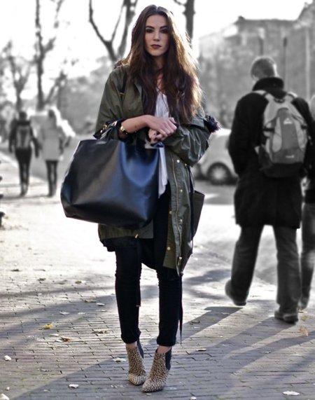 Parka abrigo Moda en la calle