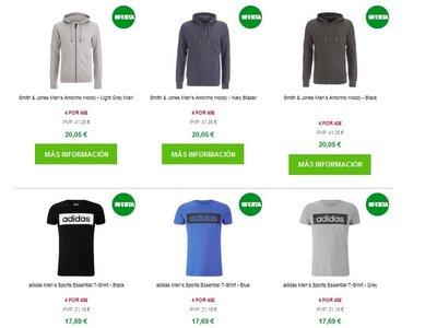Oferta 4 x 48€ en Zavvi: todo primeras marcas (Adidas, Jack&Jones, Puma) y gastos de envío gratuitos