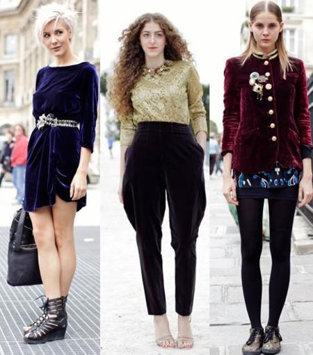 Los estilismos más chic son de terciopelo: apúntate al look del invierno