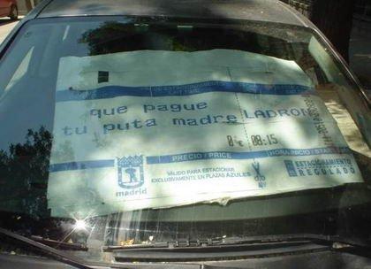 Curiosa protesta contra los parquímetros en Madrid (y II)