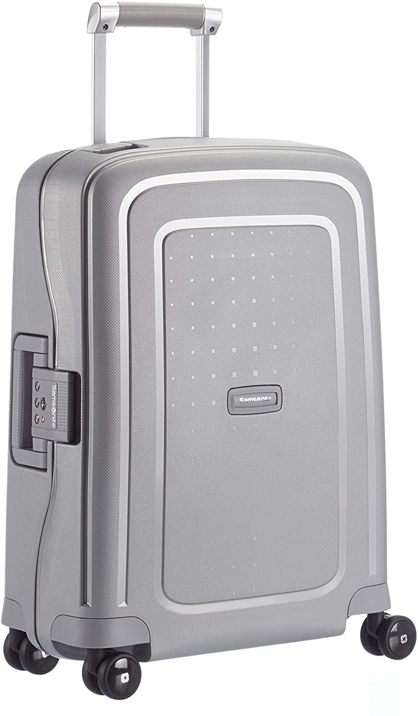 Samsonite S'Cure Spinner S - Maleta de equipaje, S (55 cm - 34 L), Plata (Silver)