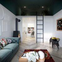 Diseño en Polonia: Un ecléctico apartamento con un encantador altillo