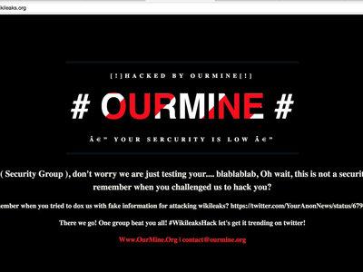 OurMine afirma haber hackeado la web de WikiLeaks, cumpliendo así el reto