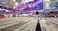 Diversión en el aeropuerto de Singapur