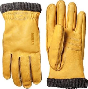 Guantes amarillos de Hestra: vigor y estilo otoñal