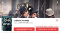Google Play regala la película Sherlock Holmes