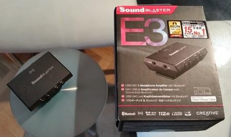 Creative SoundBlaster E3 y su caja