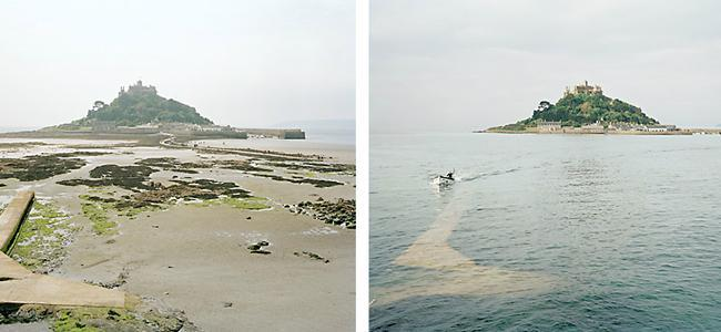 Michael Marten y sus refotografías sobre el mar