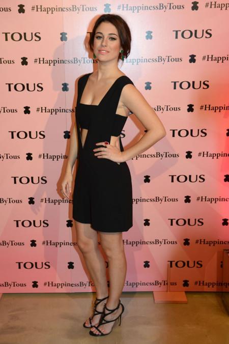 Blanca Suárez con un mono negro en la presentación Happiness by Tous en Barcelona 5 Febrero 2014