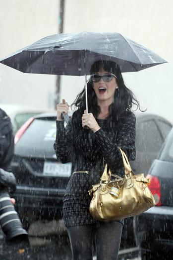 Los looks de lluvia de las celebrities: al mal tiempo, botas de agua y paraguas