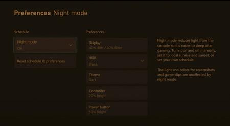 Xbox presenta su modo noche con filtro de luz azul: así podrás activarlo