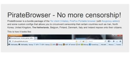 PirateBrowser ya ha sido descargado más de cinco millones de veces