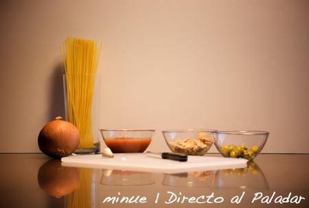 pasta con atún y tomate - ingredientes