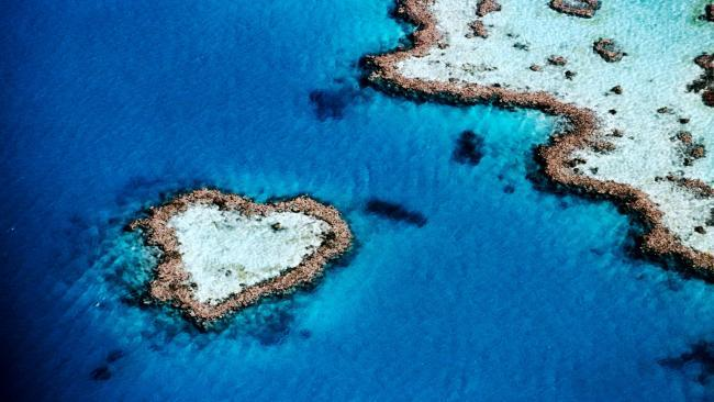 Cuatro islas con forma de corazón