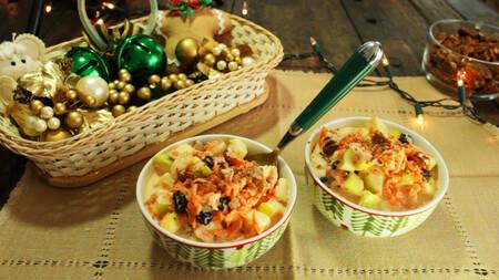 Ensalada dulce de zanahoria con pasitas. Receta para la cena de Navidad