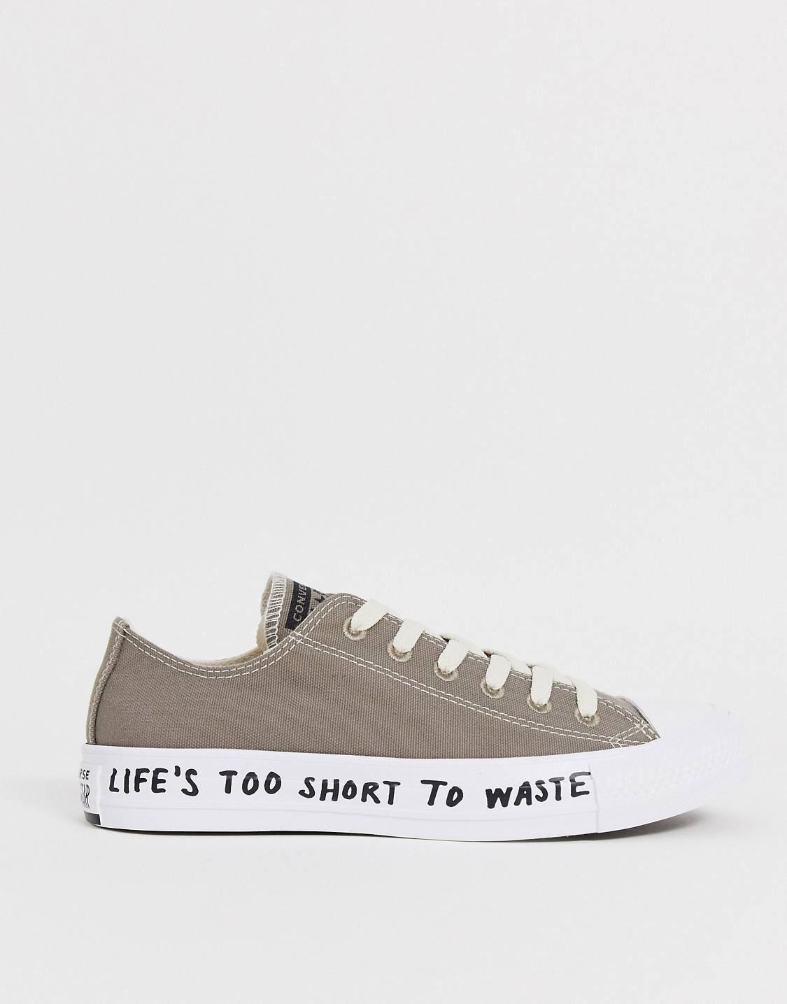 Zapatillas recicladas en gris Chuck Taylor Ox All Star Renew de Converse