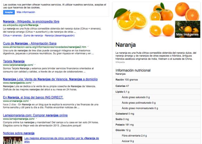 google-nutricion