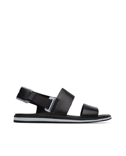 Sandalias de hombre Camper en piel color negro