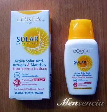 Probamos el fluído protector SPF 50+ de L'Oréal Expertise, un solar facial no-graso