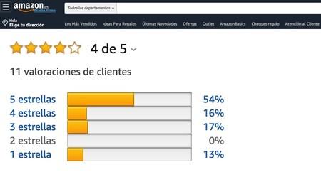 """Las valoraciones """"medias"""" de los clientes de Amazon no son la media: Amazon emplea un modelo de aprendizaje propio y secreto"""