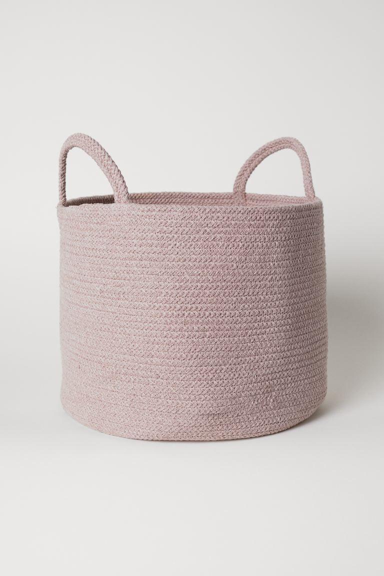 Cesto de algodón en rosa