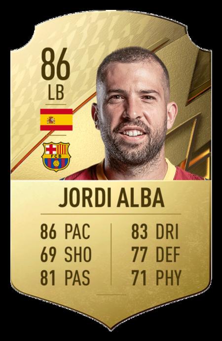 Jordi Alba FIFA 22 mejores jugadores laliga