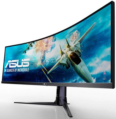 Asus presenta un nuevo monitor gaming, Asus VG49V, un panel curvo con resolución DFHD y una relación de aspecto 32:9