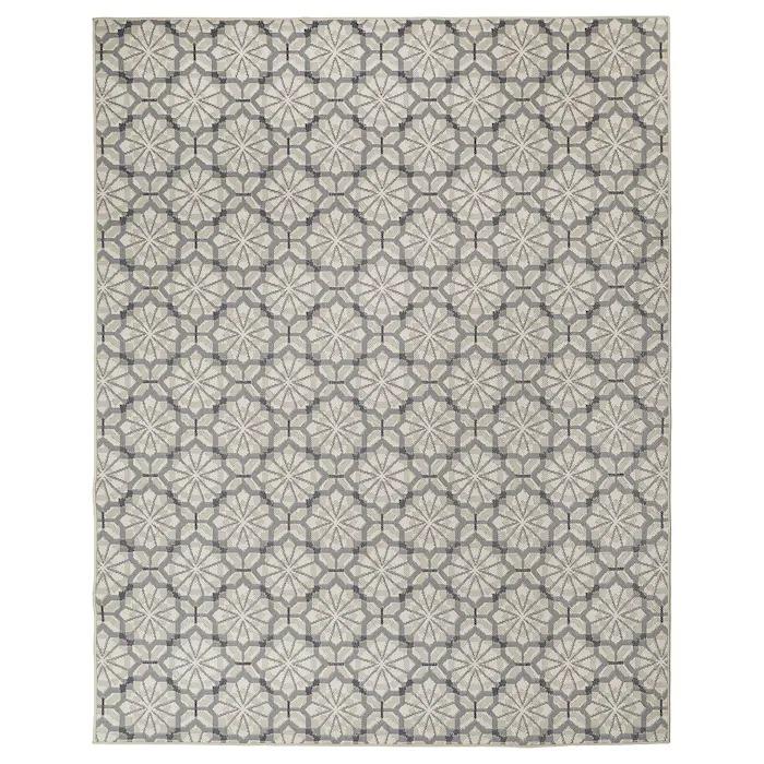HUNDSLUND Alfombra int/exterior, gris/beige200x250 cm