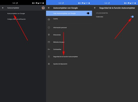 Autocompletar Google Huella