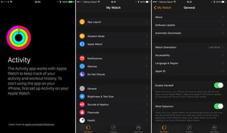 Así son las apps Actividad y Apple Watch cuando están conectadas al reloj