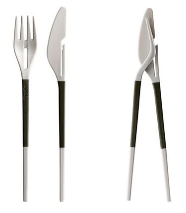 Cuando un tenedor y un cuchillo se convierten en palillos chinos