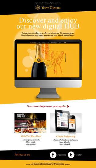 Nueva web corporativa Veuve Clicquot