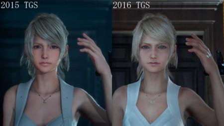 Así ha cambiado Lunafreya de Final Fantasy XV de un año para otro