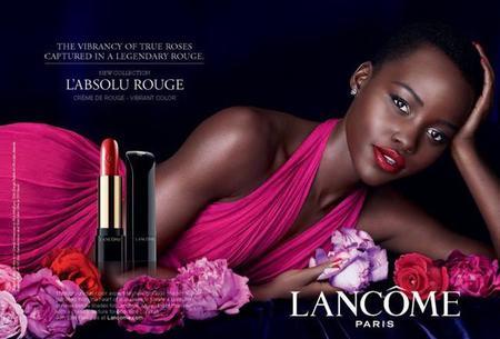 Lupita Nyong'o para L'Absolu Rouge de Lancôme o la felicidad es la belleza más atractiva