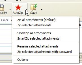 Extensión Auto Zip para Thunderbird
